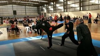 Sifu Maurice vs Teenage black belts no contact tournament