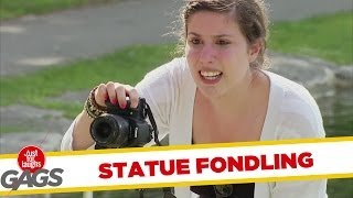 Repeat youtube video Naked Statue Fondling Prank