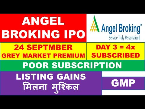 Angel Broking Ipo Day 3 4x Subscribed Angel Broking Ipo Gmp Angel Broking Ipo Subscription Youtube