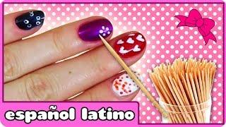 Diseños Para Uñas |  Uñas decoradas | Decorar las Uñas con un Palillo de Dientes thumbnail