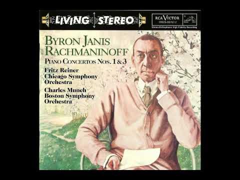 Byron Janis plays Rachmaninov's 1st ReinerCSO & 3rd MunchBSO, 1957, restored