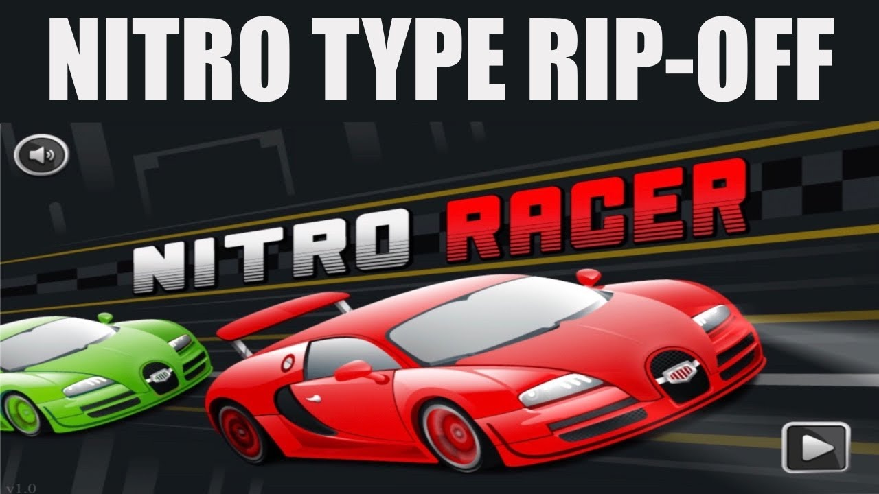 So I Found This Nitro Type Rip-Off....(ITS SO BAD!)