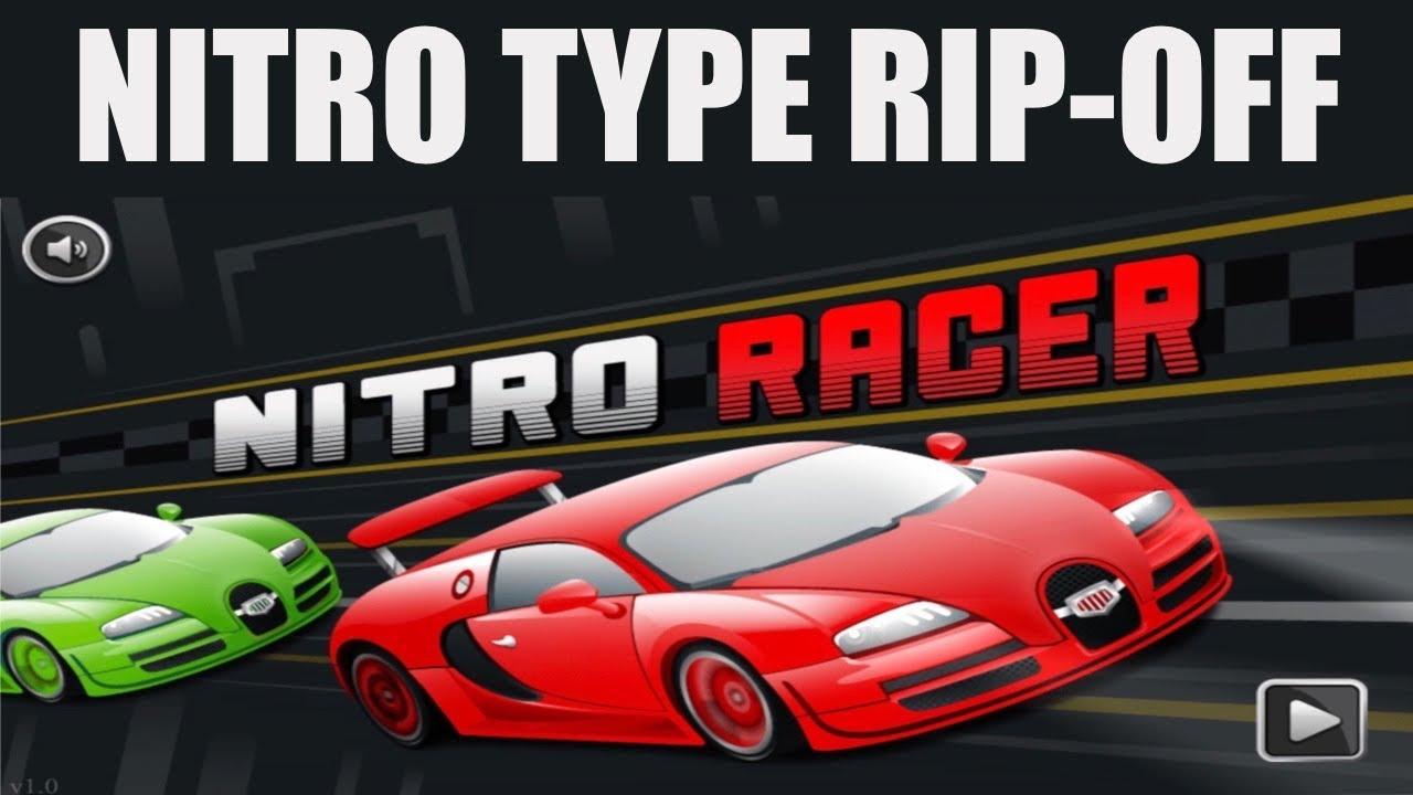 So I Found This Nitro Type Rip-Off....(ITS SO BAD!)