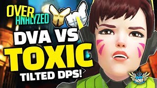 Overwatch Coaching - Dva Vs SUPER TOXIC DPS! [OverAnalyzed]