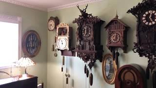 Antique Black Forest Bell Ringer Clock