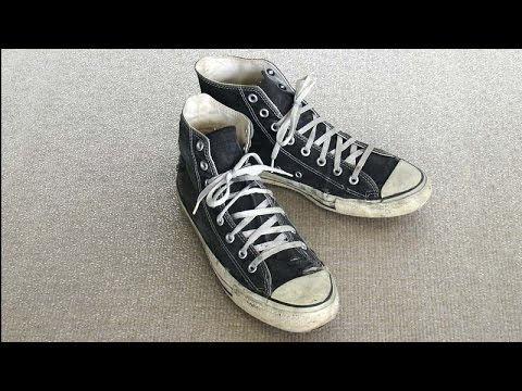 7fc59f1ebddd Vintage USA-MADE Converse All Star Chuck Taylor shoes black size 10.5 at  collectornet.net