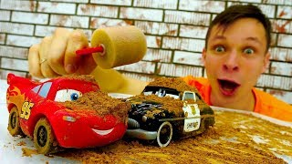Экстремальные гонки Тачек! Фёдор делает автомойку для Маквина.