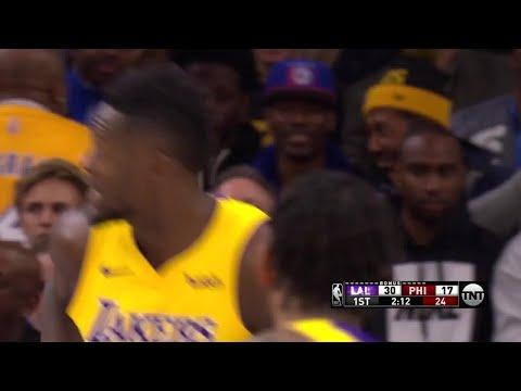 1st Quarter, One Box Video: Philadelphia 76ers vs. Los Angeles Lakers