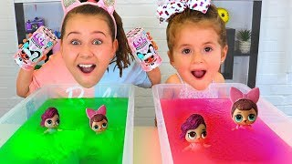 GELLI BAFF TOY CHALLENGE GAME! LOL Surprise Baby Dolls With Ruby and Bonnie