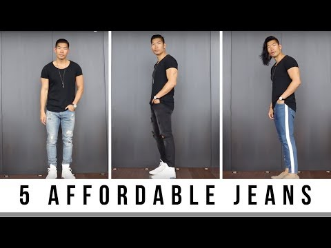 5 Affordable Jeans For Guys | Men's Fashion | Levitate Style