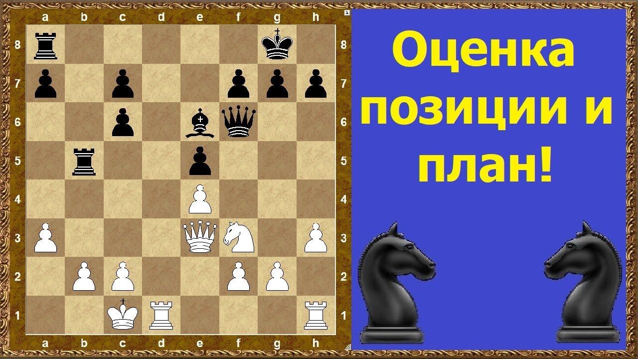 Шахматы обучение. Оценка позиции и план!