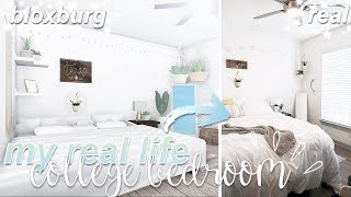 My RealLife College Bedroom | Roblox Bloxburg