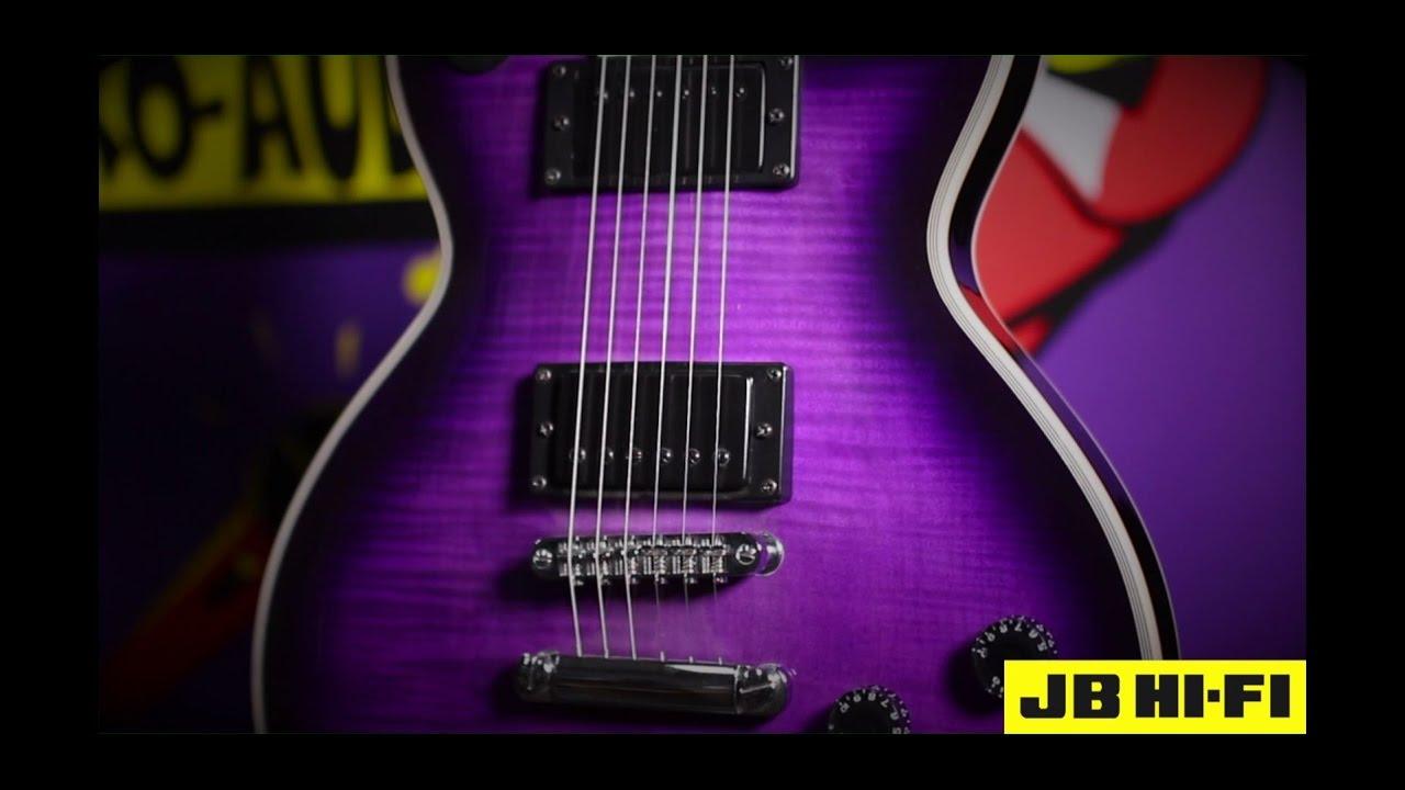 platinum mpl 605tpp transparent purple burst electric guitar jb hi fi youtube. Black Bedroom Furniture Sets. Home Design Ideas