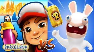 Subway Surfers Barcelona ALICIA VS Rabbit Crazy Rush: New Android iOS Game