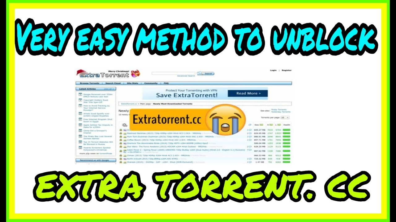 How to access EXTRA TORRENT  CC site with too much easy