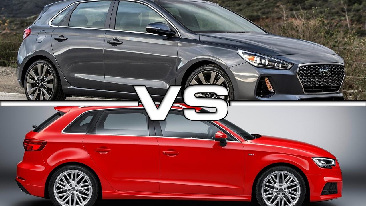 2019 Hyundai Accent >> 2018 Hyundai Elantra GT vs 2017 Audi A3 Sportback - YouTube