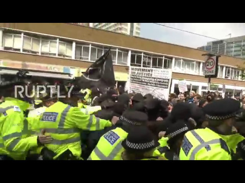 UK: Antifa clashes with police protecting far-right activists in London