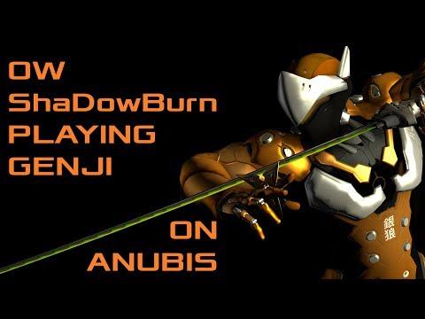 OW ShaDowBurn Playing Genji on Anubis