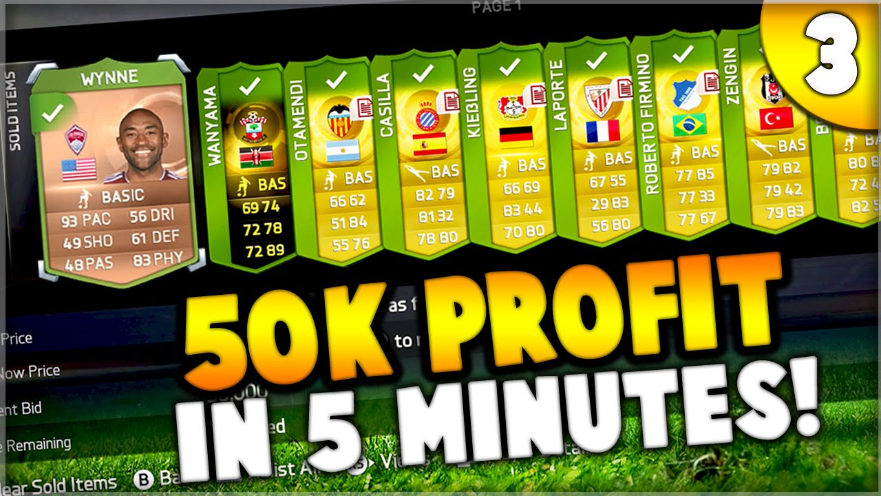 Fifa 15 50000 Coins Profit In 5 Minutes Youtube