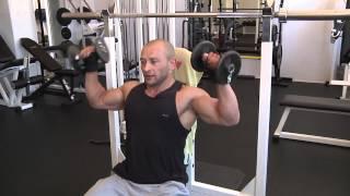 Trening z mistrzem Arkadiusz Misiak ćwiczenia na barki tv Kanał S Lubartów