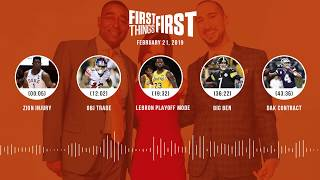 First Things First audio podcast (2.21.19)Cris Carter, Nick Wright, Jenna Wolfe | FIRST THINGS FIRST