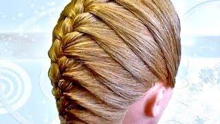 Красивые прически с косами: французская коса. Плетение кос своими руками.(Автор видео Видеоканал Учебного центра Алгоритм В этом видео вы увидите как самостоятельно можно сделать..., 2014-04-20T20:12:41.000Z)