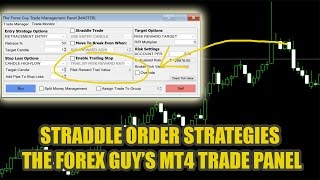 Advanced Forex Straddle Trading Strategies - MT4 Trade Panel