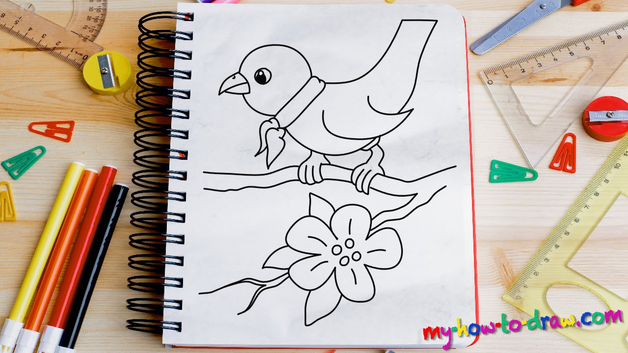 How To Draw A Bird Easy Step By Step Drawing Lessons For Kids