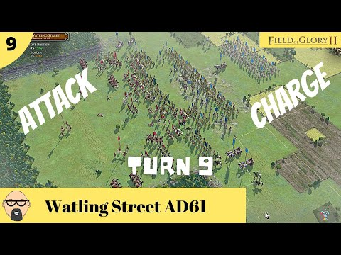 Field of Glory II PC - Battle of Watling Street AD61 - (Ep 9) - Clash of arms - We all attack |