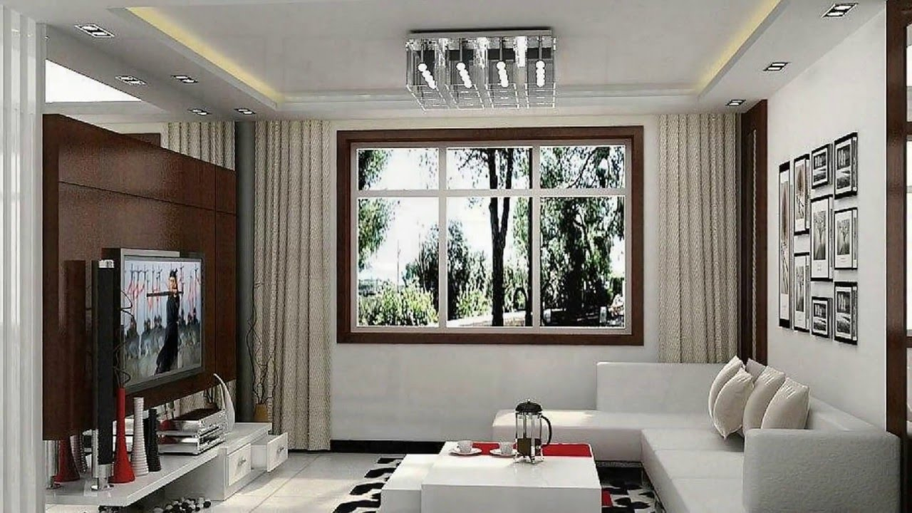 Long Narrow living room- Interior Design ideas - YouTube