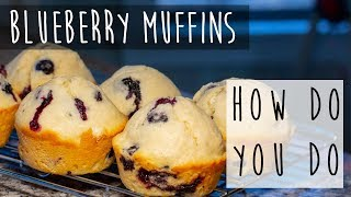 Homemade Blueberry Muffins || From Scratch!