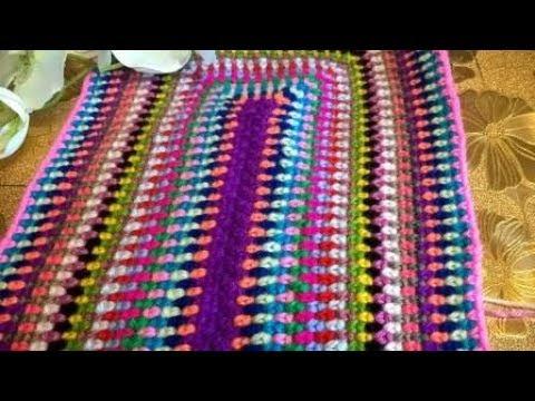 Вязание прямоугольных ковриков крючком видео