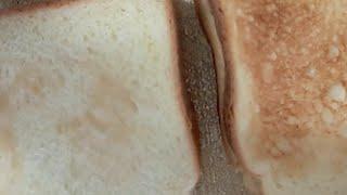 간단한 토스트 먹방 (+우유)