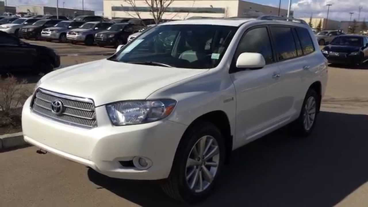 Pre Owned White 2009 Toyota Highlander Hybrid Limited Fort Mcmurray You