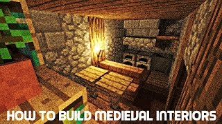 Minercraft Tutorial How To Build Medieval Interiors YouTube