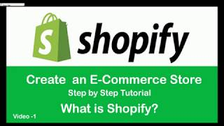 Shopify الهندية التعليمي l كيفية إنشاء متجر التجارة الإلكترونية l مقدمة Shopify l الجزء-1