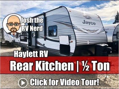 2020 & Late 2019 Jayco 29RKS Jay Flight Rear Kitchen Half Ton Couple's  Camping Travel Trailer