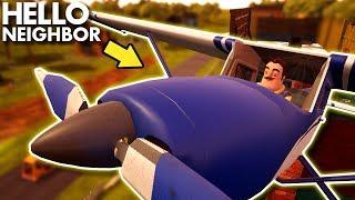 The Neighbor's *NEW* SECRET AIRPLANE!!!   Hello Neighbor Gameplay (Mods)