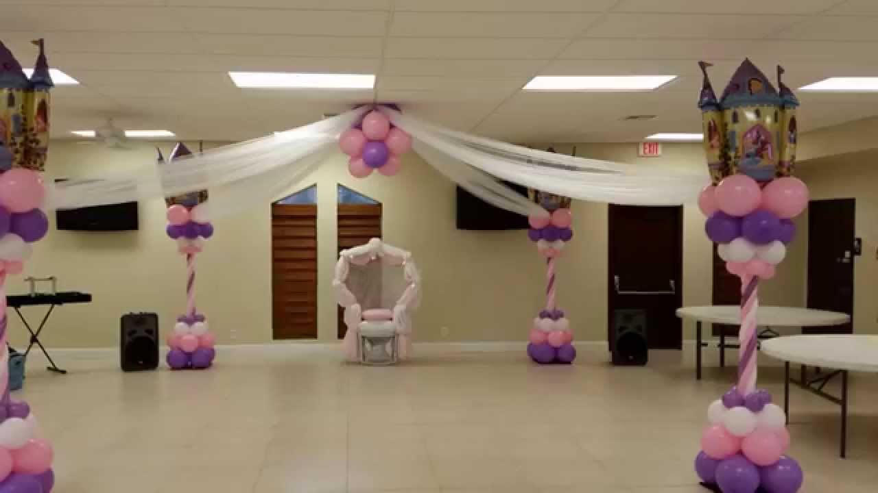 ceiling decoration ideas for a party - Princess Party Baby Shower DreamARK Events