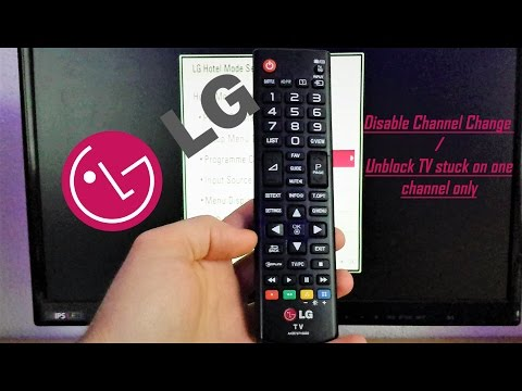 LG TV Disable channel change with Hotel Mode code / Channel