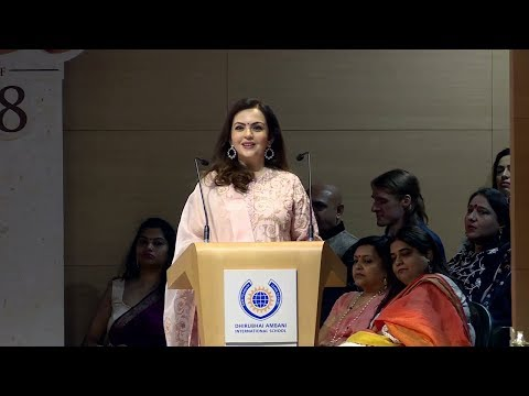 Smt Nita Ambani, Chairperson DAIS speech DAIS Graduation Ceremony class of 2018