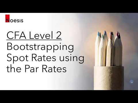 CFA Level 2   Fixed Income: Bootstrapping Spot Rates from Par Rates & No-Arbitrage Valuation