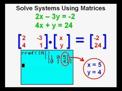 Using Matrices to Solve Systems of Equations on the Graphing ...