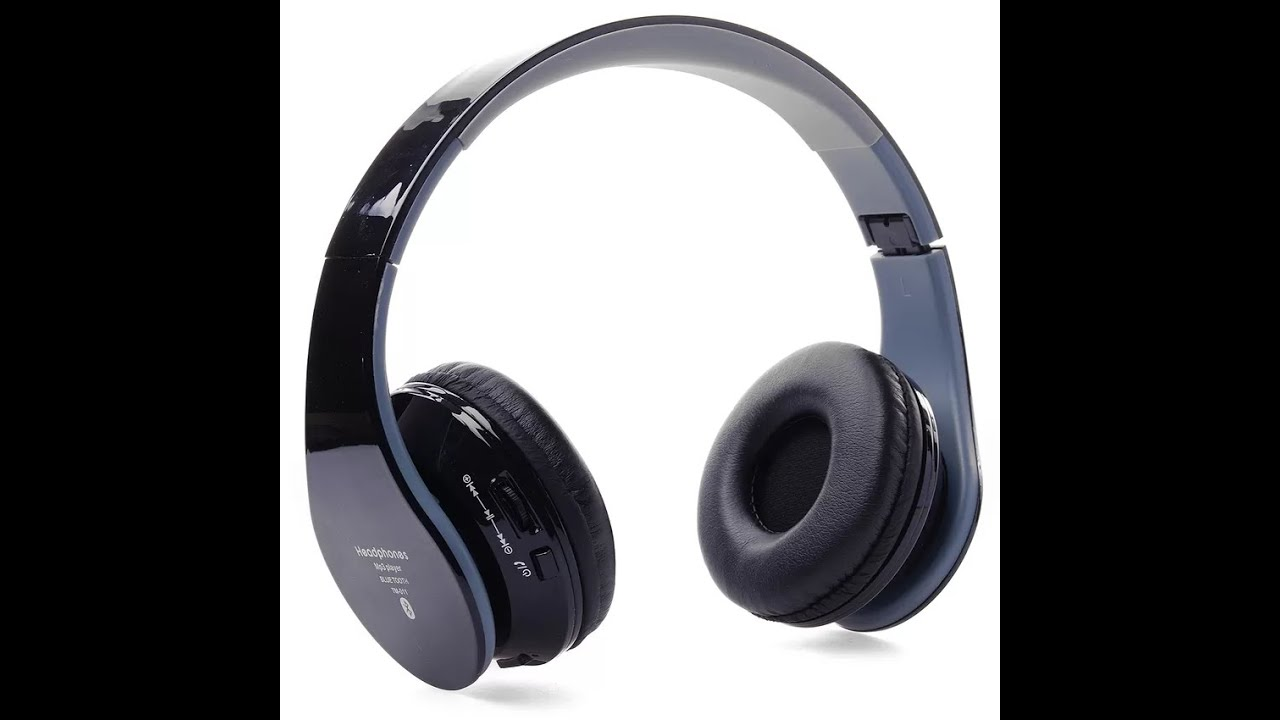 unparceling bluetooth headphone headset tm 011 black youtube. Black Bedroom Furniture Sets. Home Design Ideas
