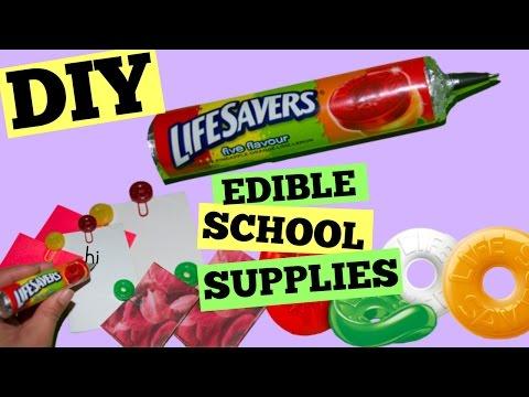 DIY EDIBLE SCHOOL SUPPLIES PART 4/Lifesavers Pen/Lifesavers Paper Clips/Lifesavers Erasers