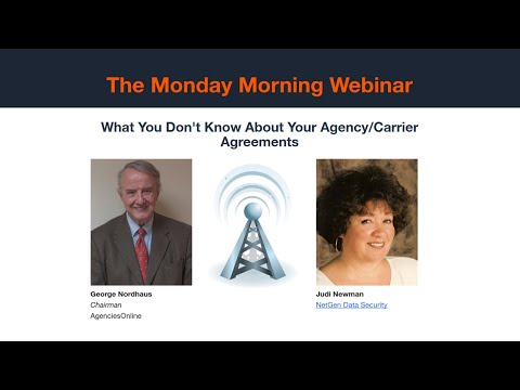 Monday Morning: What You Don't Know About Your Agency/Carrier Agreements