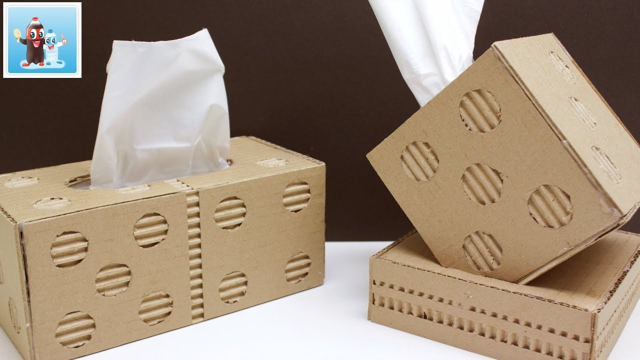 Handmade Dominoes And Dice Napkin Holder From Cardboard Art And Craft Ideas