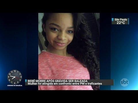 Bebê morre após grávida ser baleada no Rio de Janeiro | SBT Brasil (04/12/17)