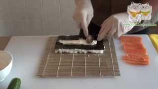 Как приготовить роллы Филадельфия Sushiday(Доставка суши Харьков - Sushiday Официальный сайт - http://sushiday.com.ua/ Группа Вконтакте - http://vk.com/sushi_day., 2014-03-24T21:07:08.000Z)