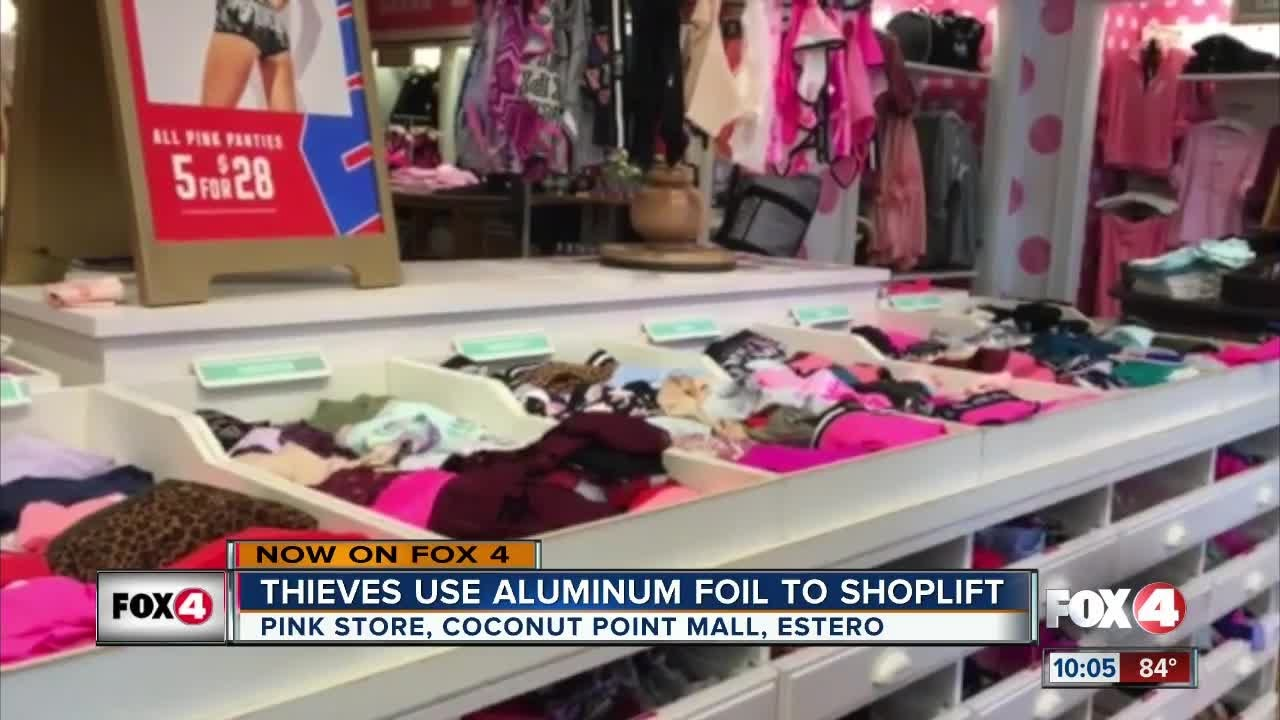 Thieves use aluminum foil to shoplift